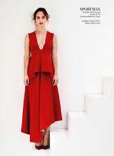 #newarrival Dress SPORTMAX MAX MARA Runway-Red -Size 46 IT- Viscose Acetate Silk