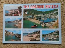 POSTCARD:THE CORNISH RIVIERA (MULTIVIEW)6 VIEWS PUBLISHED SALMON.POSTED.