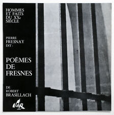 NM PIERRE FRESNAY Robert Brasillach Poemes de Fresnes french serp HF 06 LP