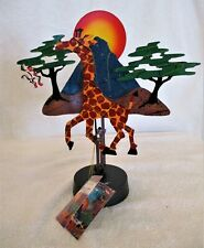 "Fred Prescott ""Run Run"" escultura cinética Resina De Jirafa Nuevo En Caja"