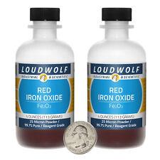 Iron Oxide Red 8 Oz 2 Bottles 997 Pure Reagent Grade 25 Micron Powder