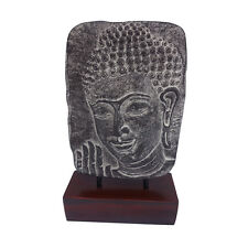 Stone Carved Relief Buddha Face Statue Interior Decoration Buddhism