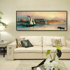Row To The River Bank Oil Painting Canvas Wall Art Picture Print Home Decor
