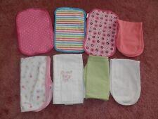 Lot Baby Girl Burp Feeding Cloths