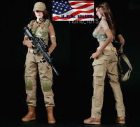 1/6 Women Combat Soldier Clothing Set Camouflage For Hot Toys Phicen Figure USA