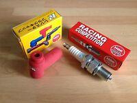 KAWASAKI KX65 A1-A6 2000-2005 KX125 1983-1990 NGK RACE SPARK PLUG & CAP