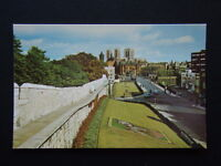 THE MINSTER FROM THE CITY WALLS YORK POSTCARD