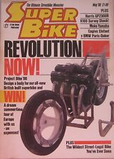 Super Bike magazine 05/1986 featuring Moko Yamaha, Cagiva, BMW