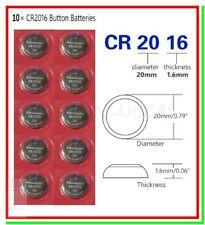 10 Batterie Pile PANASONIC CR2016 KECR 2016 5000LC 280-206 L10 SB-T11 LF-1/4V