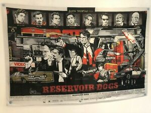 RESERVOIR DOGS Quentin Tarantino Movie Poster Flag Banner Fabric Wall Tapestry