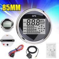 IP67 85MM GPS LCD DIGITALE TACHIMETRO MOTO AUTO CAMION CONTACHILOMETRI