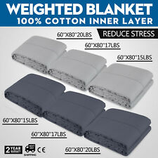 Weighted Blanket for Natural Deep Sleep, 60''x80'' 15/17/20lbs Gravity Blanket