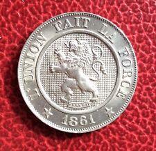 Belgique - Léopold Ier  - Magnifique monnaie de 10 Centimes 1861