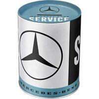 Mercedes Benz Spardose Metall,13 cm Money Bank Neu