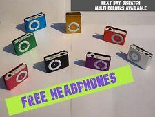 Portable Digital Mini MP3 Player Clip USB Music Play 16GB Micro SD TF Card UK