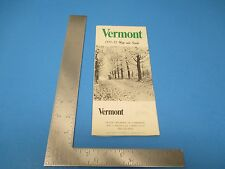 Vintage 1971-72 Vermont Map And Towns Guide Chamber of Commerce  S2157