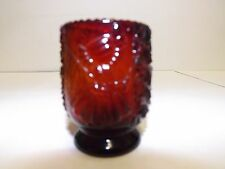 New listing Ruby Red Buttons And Daisies Colonial Lady W/Flag Toothpick Holder