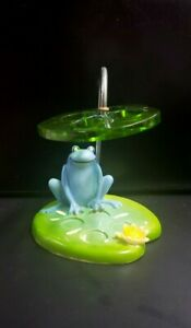 🐸 Efr FUN FROG Pattern TOOTHBRUSH HOLDER ~Froggie on a Lily Pad~ SO CUTE 🐸