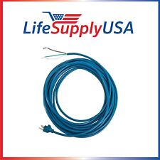 100PK 18/3 Blue 40' SJT Power Cord for Windsor Vacs # 1910 1918 86135510 8618442