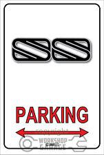Parking Sign Metal - Holden Brock vh ss logo