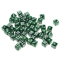 50pcs Acrylic Six Sided Dices 12mm D6 Dice for D&D DnD RPG Party Game Green