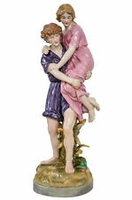 Porzellan Skulptur Kunst Figur Mann Frau Antik-Stil 42cm Liebe Liebespaar
