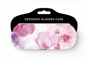 NEW - Bright & Colourful Floral/Flower Design Glasses Case With Soft Felt Lining