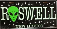 Roswell New Mexico Alien Car Tag Standard Size