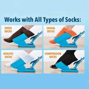Sock Helper Puller Aid Socks Stockings Dressing Disability Slider Pulling UK
