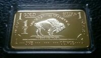 1 OZ 500 Millls .999 Fine Gold Buffalo Bar Bullion