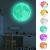 30cm Sticker Mond Aufkleber Wandtattoo Kinderzimmer Vollmond Nachtleuchtend
