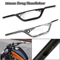 """7/8"""" 22mm Motorrad Lenker Handlebar Für Harley Davidson Sportster XL883 1200"""
