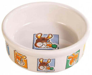 Trixie Ceramic Bowl with Motif for Rabbits Cage -  Food Or Water Dish
