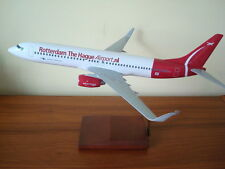 1/100 Rotterdam The Hague Airport Boeing B737-800BBJ Model wooden stand