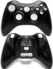 Genuine OEM Microsoft XBOX 360 Black Wireless Controller Front & Rear Shell Case