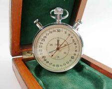 SLAVA Russian Soviet Stop Watch Mechanical stopwatch USSR in wooden box