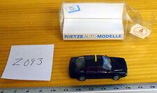 Rietze Auto Modelle Black Audi 80 Taxi
