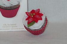 Oh So Sweet Red Poisettia Hallmark 2010 #1 Christmas Cupcakes Baking Ornament