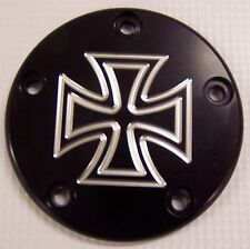 Custom Points cover / Cam cover Fits Harley Davidson  Maltess cross Hole