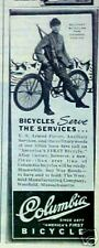 1944 Columbia Bicycle Chinese Armed Forces Military Bike WWII Memorabilia Art AD