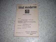 1935.revue état moderne.économie dirigée & agriculture