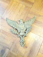 BRASS EAGLE WITH 14 STARS ,( LIKE A TRIVET ) CK. BACK LEGS. VERMONT COLLECTIBLE