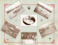Album de famille, scènes de vie, vers 1900 Vintage silver print Tirage argenti
