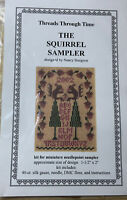 Threads Through Time The Squirrel Sampler- Counted Cross Stitch Kit