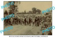 6 x 4 OLD PHOTO OF START OF BICYCLE RACE c1902 AUST
