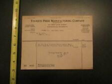 Tourists Pride Manufacturing Company Minnesota 1928 invoice Letterhead 512