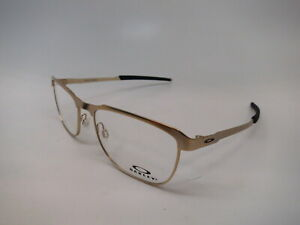 New Authentic Oakley Tall Pipe OX3244-0455 Light Gold Clear Eyeglasses 55mm