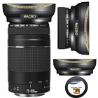 WIDE ANGLE + MACRO LENS FOR Canon EF 75-300mm f/4-5.6 III Lens EOS Rebel T5 T7