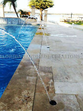 Swimming Pool Spa Fountain Deck Jet Water Fall Stream Feature Arc Waterfall