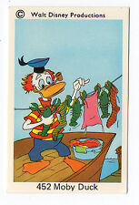 1970s Sweden Swedish Walt Disney Card - Donald Duck family - Moby Duck
